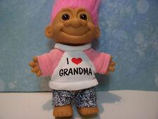 "I LOVE GRANDMA - 5"" Russ Troll Doll - NEW IN ORIGINAL WRAPPER"
