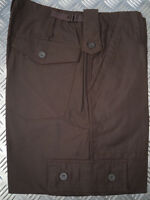 """BROWN Military Style Combat Cargo / Utility / Field Trousers Size 28""""-32"""" - NEW"""