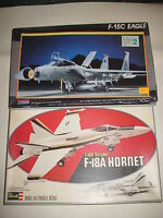 F-18A HORNET  F-15C EAGLE MONOGRAM  REVELL SCALA 1:48