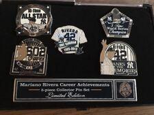 NY YANKEE STADIUM MARIANO RIVERA 5 PIN SET WORLD SERIES ALL STAR 602 SAVES HOF