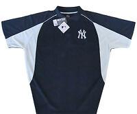New York Yankees MLB Majestic Men's Navy Golf Polo Shirt Big & Tall NWT