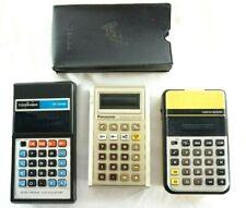 Vintage LED Calculator Lot 3 Panasonic Toshiba Omron Made in Japan & TW 80s 70s