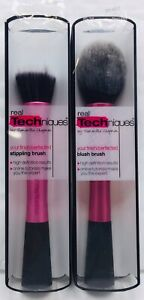 Lot of 2 Real Techniques STIPPLING BRUSH & BLUSH BRUSH NEW NIB Samantha Chapman