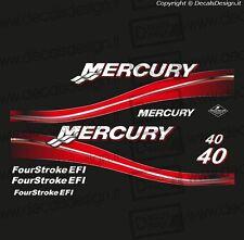Adesivi motore marino fuoribordo MERCURY 115 HP FOUR STROKE EFI BIANCO
