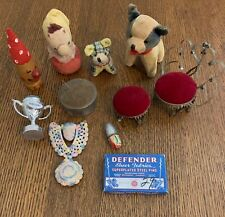 Vintage sewing novelties grouping of 10 items.