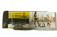 NEW Gold's Gym Weight Plate & Barbell Storage Rack - Disinfected box.