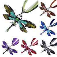 1 Stk. Libelle Stil Anhänger Halskette Kristall Charme Accessoire Nett flYfE