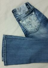 "Miss Me style ""SIGNATURE"" (JE8550BL) boot cut Jean size 24x32 in NWTags"