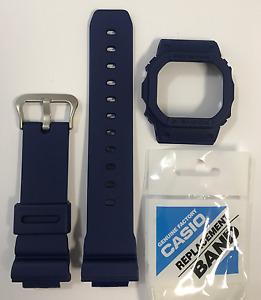 CASIO Original G-shock Watch Band DW-5600M-2 Blue Strap & Bezel DW5600M
