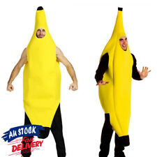 Costume Adult Fun Banana Body Suit Fancy Unisex Outfit Dress One Size Fits Most