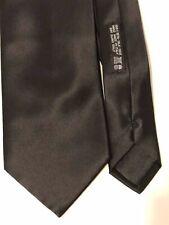 Brioni Solid Black Silk Tie