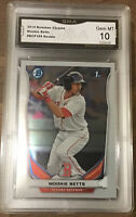 2014 Bowman Chrome Mookie Betts #BCP109 Rookie Gem 10 Dodgers