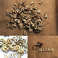 100pcs Embellishments Letters Wooden Alphabet Scrapbooking Cardmaking Craft DIY