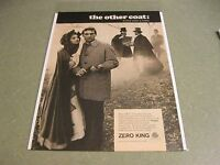 Vintage 1968 Original Print Ad  Zero King - the other coat