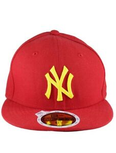 New Era Kids MLB 59Fifty NY new York Yankees Fitted Baseball Cap, Hip Hop Red