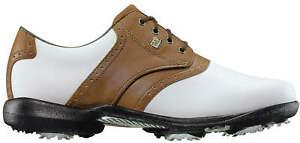 FootJoy Women's DryJoys Kiltie Golf Shoes 99015 White/Luggage Brown Ladies New