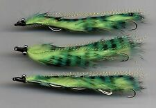 Trout Flies:Snake Flies: New for 2014 Tied in the UK: Green Marauder x 3 size 8