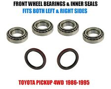 Fits:Toyota Pickup 4WD Front Wheel Bearings & Seals Set 1986-1995