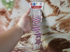 CLOSEOUT SALE! Imported From USA! Embellished Icon BPA Free Straws Star #1