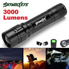 3000 Lumens 3 Modes Zoom Focus CREE XML T6 LED 18650 Flashlight MINI Torch Lamp