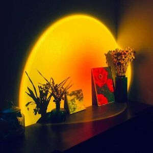 LED Sun Sunset Rainbow Projector Atmosphere Light Lamp USB Home Room Ornaments