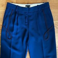 J. Crew Collection Navy Blue Black Cropped Trousers Trouser Pants J.Crew Size 8