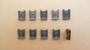 10 OLD SCHOOL SPRING TYPE U NUTS! FITS: ALL FORD DODGE PLYMOUTH CHRYSLER GM GMC