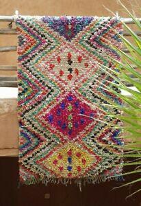Moroccan boucherouite rug 195 x 122 cm