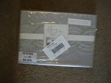 KYLIE AT HOME SEQUIN WAVE SILVER SQUARE PILLOWCASE BNIP