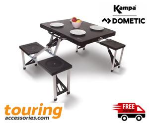 Kampa Caravan Camping Happy Folding Picnic Beach Table & Chairs Set