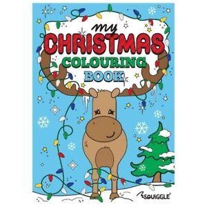 Christmas Colouring Book Stocking Filler Fun Activity Kids Children Reindeer
