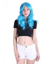 Adult Curly Hair Wig Solid Color Wavy Hair w/ Bangs Women's Fashion Cosplay Wig