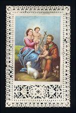 santino merlettato-holycard-canivet SACRA FAMIGLIA E S.GIOVANNI BATTISTA