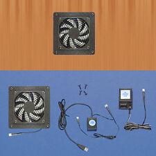 Mega-fan AV cabinet USB-controlled cooling fan system, with multi-speed fan