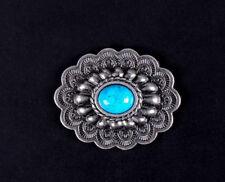 10PCS 35*28MM Antique Silver Flower Turquoise Conchos For Leathercraft Belt shoe