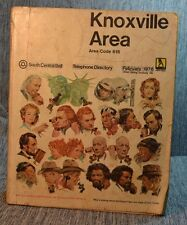 Vintage Knoxville Area Area Code 615 South Central Telephone Directory 1976