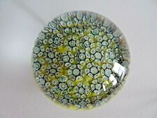 Yello Murano Art Glass Millefiori Paperweight CLOSE Packed CANE w/ Rooster LABEL