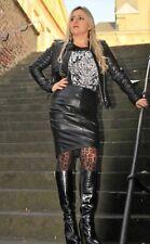 Lederrock Bleistiftrock aus ECHT Leder in elegant schwarz Damen