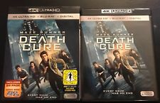 MAZE RUNNER THE DEATH CURE 4K ULTRA HD + BLU RAY + SLIPCOVER + 24 PAGE COMIIC