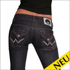 NEU 🌸 Sexy Damen Low Cut Jeans G3 Dark Blue Denim Flap Pocket Hüfthose 🌸 34