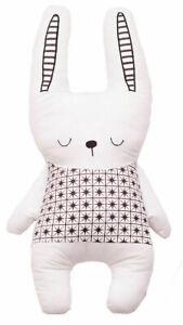 Bizzi Growin Cushion Monochrome Rabbit Childrens Deluxe Cushion / Pillow