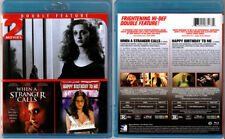 2 Movies Blu-ray WHEN A STRANGER CALLS+HAPPY BIRTHDAY TO ME horror OOP Region A