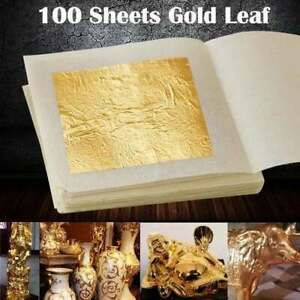 Furniture Decorations Arts Project 3.15 x 3.35 Loose Package VGSEBA Imitation Gold Foil Sheets 700 Pieces Rainbow Color Metal Papers for Gilding Crafts