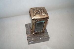 Grablampe, Grablaterne aus Messing Weha  #1432 mit  Sockel L142