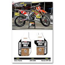 2005-2008 Honda CRF 450 GEICO Fork Guards dirt bike graphics