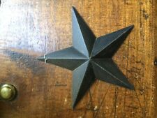 "ONE (1)  BLACK BARN STARS 5.5"" PRIMITIVE RUSTIC COUNTRY DECOR ANTIQUE"