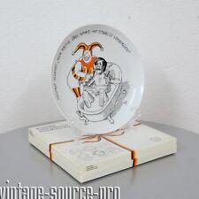 Rosenthal Studio Line Teller Satire Porzellan Wandteller Helmut Schmidt 70er J.
