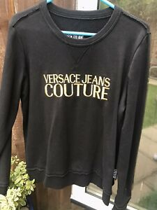 Versace Sweatshirt Mens LARGE black