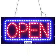 "LED OPEN SIGN - HORIZONTAL ""OPEN"" 10""X20"" size, ON / OFF / FLASHING MODE (#3149)"