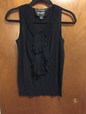 St John Couture Black Sleeveless Blouse Top Tie Detail Size: P